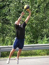 Outdoor basketball drills