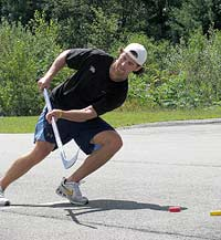 Hockey drills outside